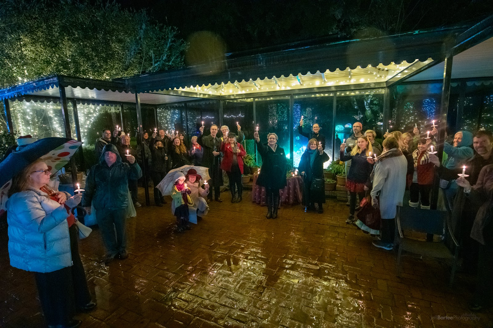 Julie Bly DeVere leading Winter Solstice festivities at Filoli in 2019
