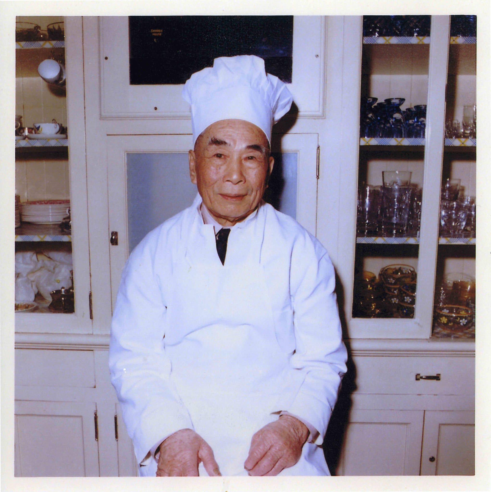 Kee Low, long time chef for the Roth family pictured in the Kitchen
