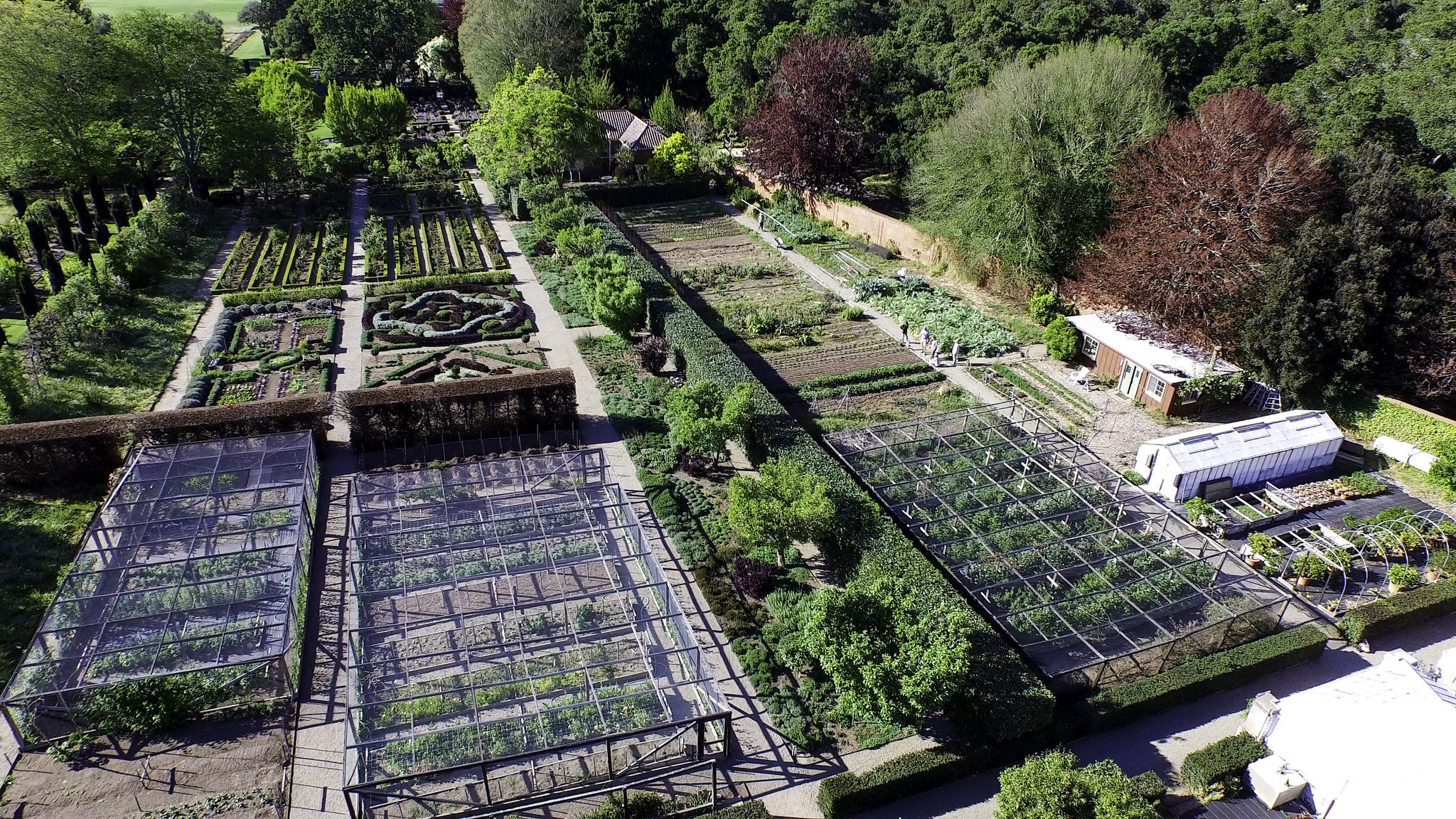 Koptervision image of the Panel Garden and Veggie Garden